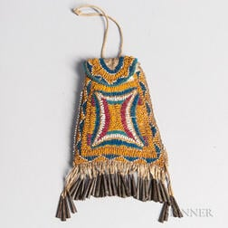 Apache Beaded Hide Strike-a-Light Pouch