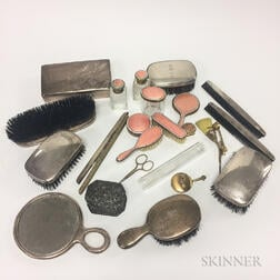 Group of Sterling Silver Vanity Items