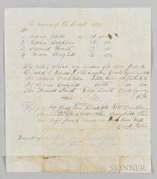 """Handwritten Letter to """"Rev. E.T. Perry, Manual L School, Shawnee Nation,"""" from the """"Post Office for Indian Boys,"""""""