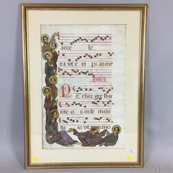 Illuminated Musical Manuscript