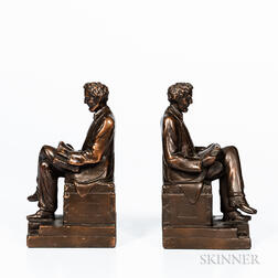 Pair of Bronze Abraham Lincoln Bookends