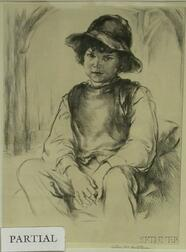 Lot of Three Etchings by Arthur William Heintzelman (American, 1890-1965):   Study of Young Beethoven
