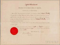 Cleveland, Grover (1837-1908) Document Signed, 26 April 1894.