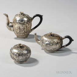 Three-pieces of Continental Silver Tableware