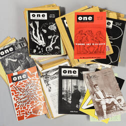 One   and Tangent   Magazines, Large Lot, 1960s.