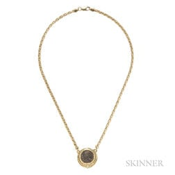 18kt Gold and Roman Coin Necklace