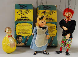 Two Hazelle's Boxed Marionettes and Roly-poly
