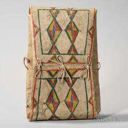 Blackfeet Painted Parfleche Envelope