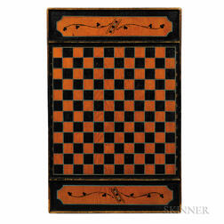 Large Paint-decorated Double-sided Game Board