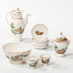 Polychrome and Gilt-decorated Coffee Service Set