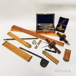 Eighteen Pieces of Drafting Instruments