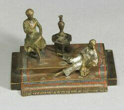 Viennese Cold Painted Bronze Arabian Figural Group