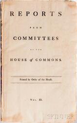 Reports from Committees of the House of Commons, Which have been printed by Order of the House, and are not inserted in the Journals.