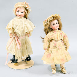 Kammer & Reinhardt/Simon & Halbig Open Mouth Bisque Doll and a Belton-type Bisque Doll
