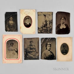 Eight Tintypes Depicting African American Women