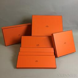 Seven Orange Hermes Boxes