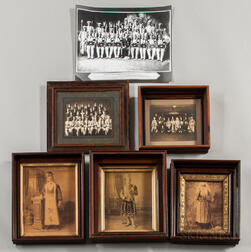 Five Photograph of Odd Fellows Members in Costume and One Photograph of Knights of the Maccabees Members in Costume