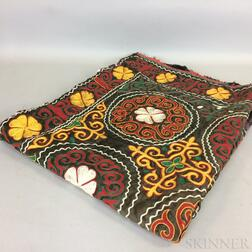Embroidered Silk Textile