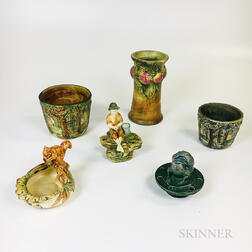 Six Pieces of Weller Pottery