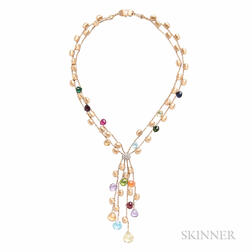 18kt Gold Gem-set Necklace, Marco Bicego