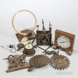Collection of Clocks and Clock Parts