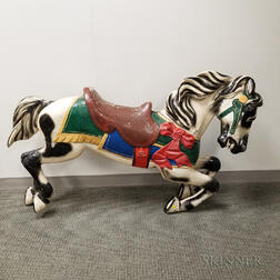 Herschel-Spellman Carved and Painted Carousel Horse