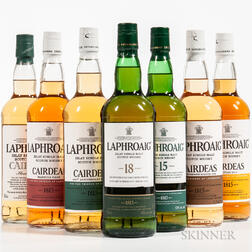 Mixed Laphroaig, 6 750ml bottles (oc) 1 70cl bottle (oc)