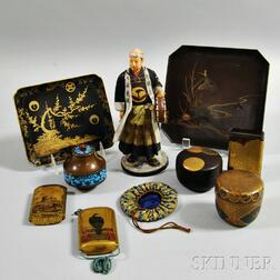 Eight Small Items and a Figurine