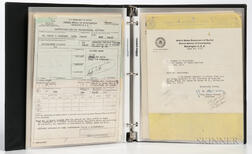 Hoover, J. Edgar (1895-1972) FBI Archive Including Signed Letters, 1952-1979.