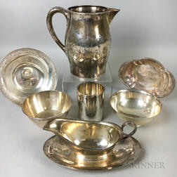 Eight Pieces of Sterling Silver Hollowware