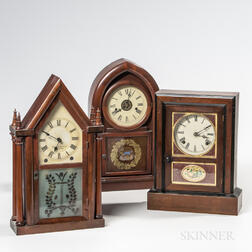 Three American Shelf Clocks