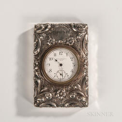Black, Starr & Frost Sterling Silver-mounted Clock