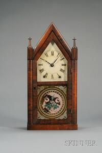 "Mahogany Sharp Gothic or ""Steeple"" Clock by Brewster and Ingrahams"