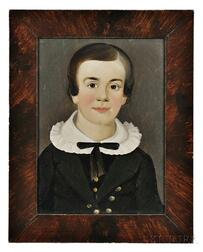 William Matthew Prior (Massachusetts, Maine, 1806-1873)      Portrait of a Boy with a Bow Tie