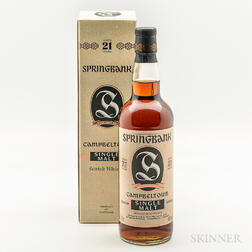 Springbank 21 Years Old, 1 bottle (oc)