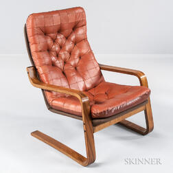 Bentwood and Leather Armchair
