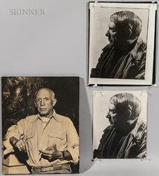 Three Photographs:    Portraits of Pablo Picasso