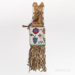 Northern Plains Beaded Hide Pipe Bag