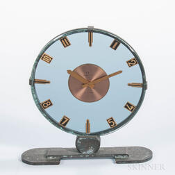 Unusual Brass and Glass Omega Presentation Clock