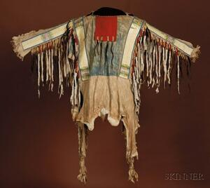 Sold for: $303,000 - Plains Beaded, Quilled, and Painted Hide War Shirt