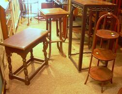 Four Decorative Stands and Tables