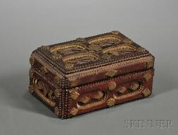 Chip-Carved Tramp Art Jewelry Box