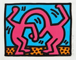 Keith Haring (American, 1958-1990)      Plate   from Pop Shop II