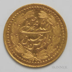 Uncirculated Islamic Gold Coin.     Estimate $100-200