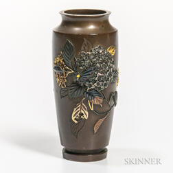 Small Metal-inlaid Bronze Vase