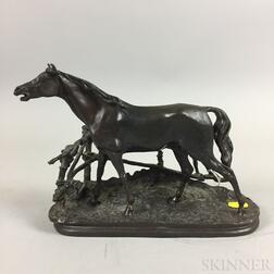 After Pierre-Jules Mêne (French, 1810-1879)       Bronze Figure of a Horse.
