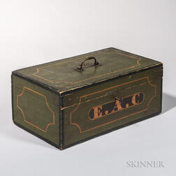 Green-painted Document Box