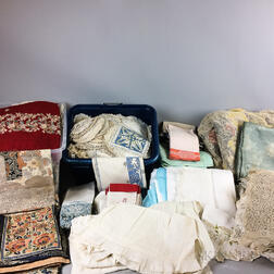 Large Group of Linens and Textiles