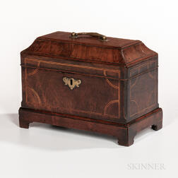 Inlaid Walnut Tea Caddy