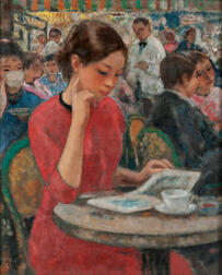 François Gall (French/Hungarian, 1912-1987)      Girl at a Cafe